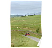 The Three Castles Welsh Trial 2014 - MGC GT Poster