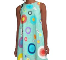 Colorful Happy Circles A-Line Dress
