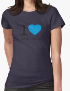 I ♥ CARIBBEAN Womens Fitted T-Shirt
