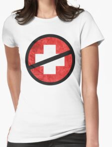 The Purge cross Womens Fitted T-Shirt