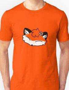Flower Fox Face Unisex T-Shirt