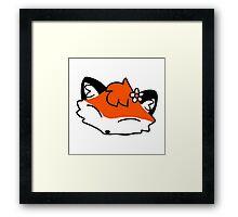 Flower Fox Face Framed Print