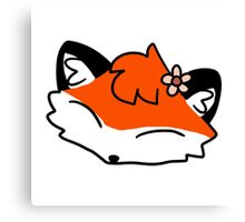 Flower Fox Face Canvas Print