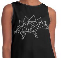 Geometric Dinosaur (Stegosaurus in white) Contrast Tank