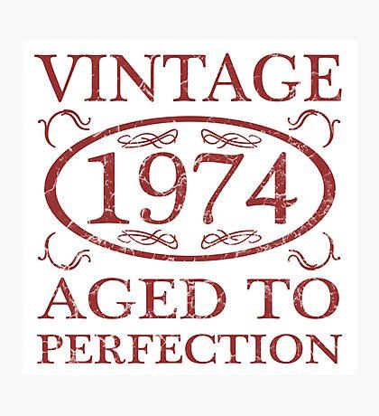 Vintage 1974 Birth Year Photographic Print