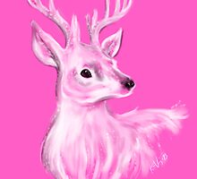 Deer in pink by phaona