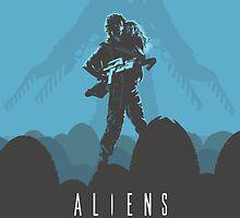 Ridley Scott's Aliens Print Sigourney Weaver as Ripley by Creative Spectator