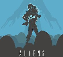 Ridley Scott's Aliens Print Sigourney Weaver as Ripley by Creative Spectator