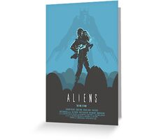 Ridley Scott's Aliens Print Sigourney Weaver as Ripley Greeting Card