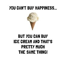 Ice Cream Buy Happiness Photographic Print