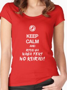 Keep calm and ryuu ga waga teki wo kurau! - Overwatch Women's Fitted Scoop T-Shirt