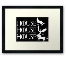 Game of Thrones - Stark - Targaryen - Lannister Framed Print
