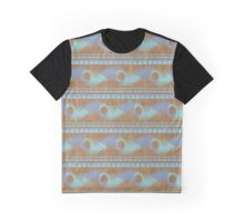Summer Camp Wallet - Teal Brown Blue Abstract Pattern Graphic T-Shirt