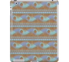 Summer Camp Wallet - Teal Brown Blue Abstract Pattern iPad Case/Skin