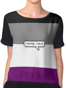 You're valid #2 asexual Women's Chiffon Top