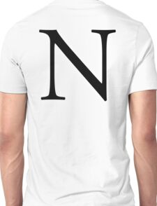N, Alphabet Letter, November, New York, A to Z, 14th Letter of Alphabet, Initial, Name, Letters, Tag, Nick Name Unisex T-Shirt
