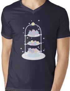 Starlight Teatime (Pastel Pink) Mens V-Neck T-Shirt