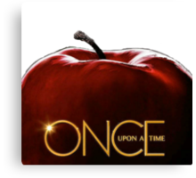 Once upon a time apple Canvas Print