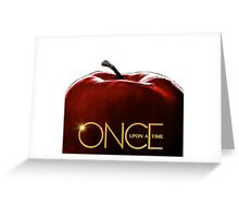 Once upon a time apple Greeting Card