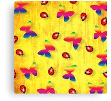 Ladybugs and Butterflies Canvas Print
