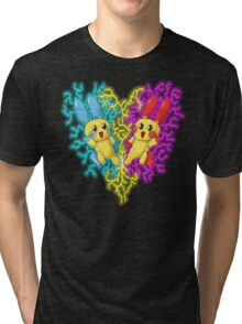 plusle and minun Tri-blend T-Shirt