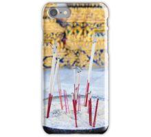 Bowl with joss sticks iPhone Case/Skin