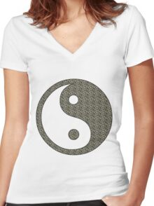 Yoga Buddha Style Women's Fitted V-Neck T-Shirt