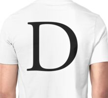 D, Alphabet Letter, Dee, Delta, Denver, A to Z, 4th Letter of Alphabet, Initial, Name, Letters, Tag, Nick Name Unisex T-Shirt