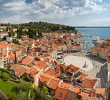 Piran panorama by Dominika Aniola