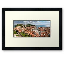 Piran panorama Framed Print