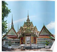 Wat Pho, the Temple of Reclining Buddha in Bangkok, Thailand Poster