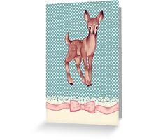 Polka dot bambi Greeting Card