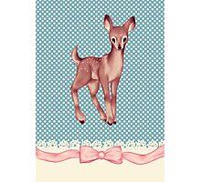 Polka dot bambi Photographic Print
