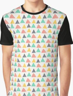 Colorful Fun Triangle Design Graphic T-Shirt