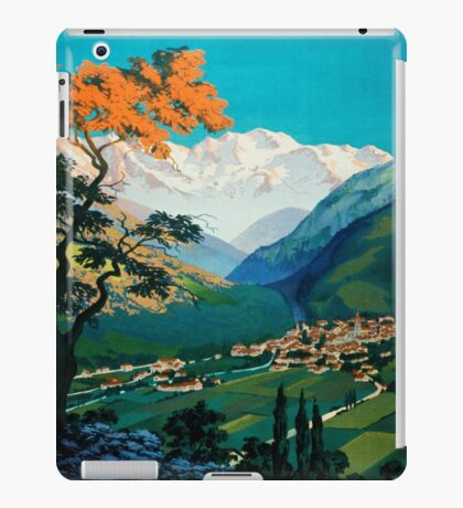Allevard Les Bains, French Travel Poster iPad Case/Skin