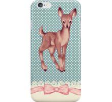 Polka dot bambi iPhone Case/Skin