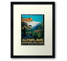 Allevard Les Bains, French Travel Poster Framed Print