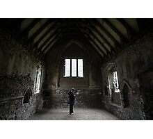 Standing in Duxford Chapel Photographic Print
