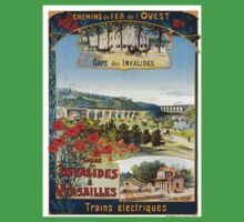 Ligne des Invalides a Versailles, French Travel Poster One Piece - Short Sleeve