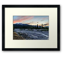 Mount St. Helens Sunset, South Smith Creek Trailhead  Framed Print