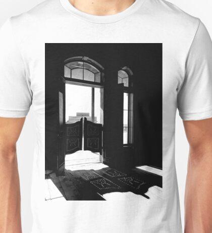 Designs on Swinging Doors Unisex T-Shirt