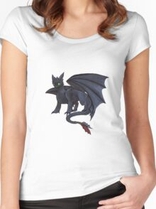 Toothless w/ Copics Women's Fitted Scoop T-Shirt