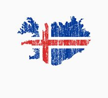 Iceland Distressed Map Flag Unisex T-Shirt