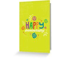 AA Anniversary Card Greeting Card