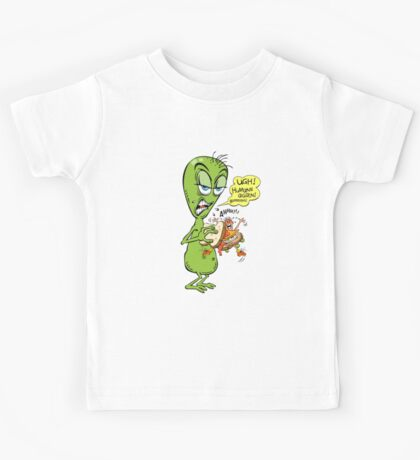 Alien Bored And Hungry Kids Tee