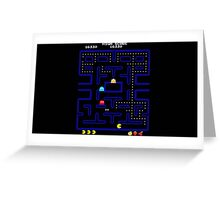 Pacman Level Greeting Card