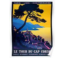 Le Tour Du Cap Corse, French Travel Poster Poster