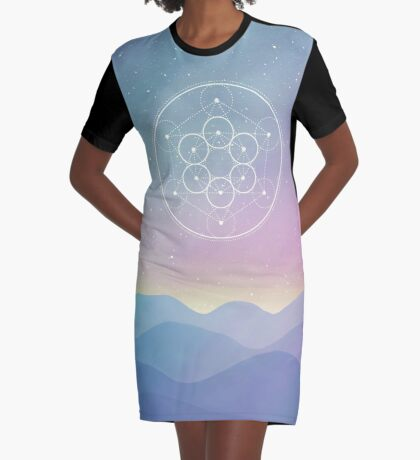 Fruit Of Life Graphic T-Shirt Dress