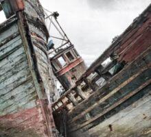 Shipwreck ! Abandoned Boats. Salen. Isle of Mull. Scotland. Sticker