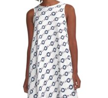 US Airforce style insignia pattern Diag version A-Line Dress